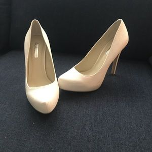 BCBG White Pumps- Never Worn